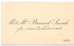 Visitekaartje - Carte Visite - Mr & Mme Bruneel - Snoeck - Aeltre Aalter - Cartoncini Da Visita