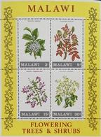 Malawi 1971 Flowering Trees & Shrubs S/S - Malawi (1964-...)
