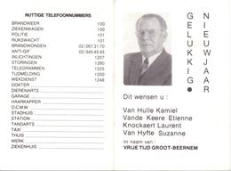 Kalender Calendrier - 1988 - Vrije Tijd Groot Beernem - Calendriers