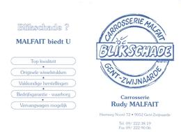 Kalender Calendrier - 1995 - Pub Reclame Carrosserie Malfait - Gent Zwijnaarde - Petit Format : 1991-00