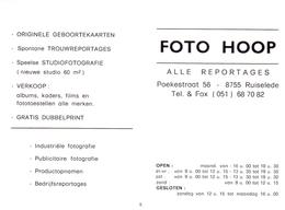 Kalender Calendrier - 1998 - Pub Reclame Foto Hoop - Ruiselede - Calendriers