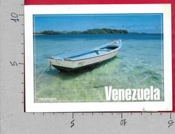 CARTOLINA VG VENEZUELA - Los Roques - Penero En Las Cristalinas Aguas - 11 X 15 - ANN. 2000 - Venezuela