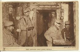 MILITARIA / ABRI SOUTERRAINS CONTRE GROSSES MARMITES (DOS : PUB RICQLES) - Guerra 1914-18