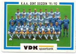 Wedstrijdkalender Calendrier - Seizoen 1991 - 1992 K.A.A. Gent - Calendriers