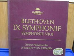 LP117 - COFANETTO 2 LP - BEETHOVEN - IX SYMPHONIE - SYMPHONIE NR. 8 - HERBERT VON KARAJAN - Classica