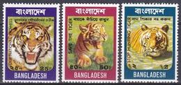 Bangladesch Bangladesh 1974 Tiere Fauna Animals Tiger Königstiger Raubkatzen Cats, Mi. 49-51 ** - Bangladesch