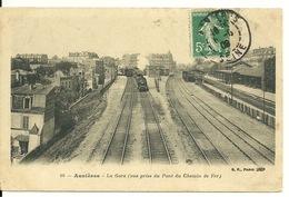 92 - ASNIERES / LA GARE - VUE PRISE DU PONT DU CHEMIN DE FER - Asnieres Sur Seine