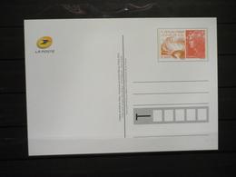 Fête Du Timbre 2012 Le Timbre Fête Le Feu Sur CP - Postal Stamped Stationery