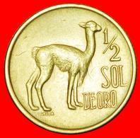 # VICUGNA (1973-1975): PERU ★ 1/2 SOL DE ORO 1975!  LOW START ★ NO RESERVE! - Pérou