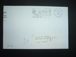 LETTRE PORT PAYE OBL.MEC.30-9 1997 PP 78 CHEVREUSE Sa Qualité De Vie - Postmark Collection (Covers)