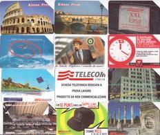 °°°  12 Schede Telefoniche Varie N.1 Bis  °°° - Pubbliche Figurate Ordinarie