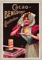 12 Chromo Litho PUB C1880 à 1890 BENSDORP Chocolate Chokolade, Nationale Dansen Volksmuziek Akkerbouw Kangaroe  7X10cm - Chocolade