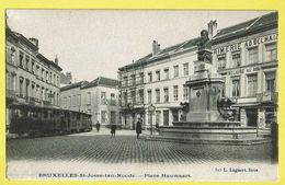 * Sint Joost Ten Node - Saint Josse (Bruxelles) * (L. Lagaert Brux, Nr 313) Place Hauwaert, Imprimerie, Tram, Vicinal - St-Josse-ten-Noode - St-Joost-ten-Node