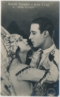 POSTAL FOTOGRAFIA DEL ACTOR RODOLFO VALENTINO E HELEN ALGY In Notte Nuziale - Fotos