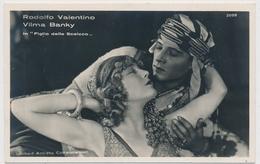 POSTAL FOTOGRAFIA DEL ACTOR RODOLFO VALENTINO E VILMA BANKY In Figlio Dello Sceicco - Fotos