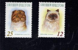 693359185 REPUBLIC OF CHINA POSTFRIS MINT NEVER HINGED POSTFRISCH EINWANDFREI SCOTT 3647 3648 CATS - 1949 - ... République Populaire