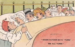Postcard When Father Says Turn We All Turn Austen Fiscal Policy Political Satire PU 1905 My Ref  B12737 - Satirical