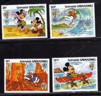 GRENADA GRENADINES 1985 WALT DISNEY MICKEY MOUSE TOPOLINO LETTER FROM HAWAII COMPLETE SET SERIE COMPLETA MNH - Grenada (1974-...)