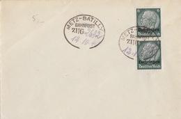 Lettre Non Circulée Obl Ambulant (T170 Zug 2692 Metz-Batilly) Sur TP Lotr 6pf X 2 Le 12/10/40 - Marcophilie (Lettres)