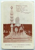 FORLI' - Piazza Dante, Monumento A L'11° Reggimento Fanteria - Forli