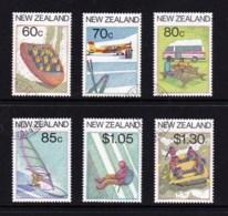 New Zealand 1987 Tourism Set Of 6 Used - New Zealand