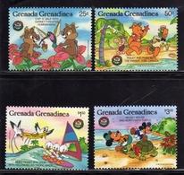 GRENADA GRENADINES 1986 WALT DISNEY CHRISTMAS GREETINGS AUGURI DI NATALE COMPLETE SET SERIE COMPLETA MNH - Grenada (1974-...)