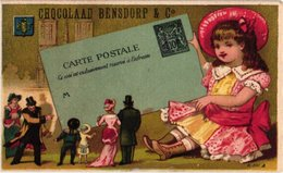 7 Chromo Litho PUB C1880 à 1890 BENSDORP Chocolate Chokolade, Politie Police Gendarme Picknik Met Kikkers Frogs Langlauf - Other