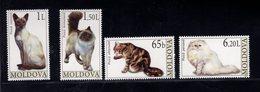 693372745 MOLDOVA POSTFRIS MINT NEVER HINGED POSTFRISCH EINWANDFREI SCOTT 560 563 CATS - Moldavie