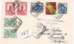 España. Carta Circulada A Bruselas Con Sello De Granada - 1931-50 Lettres