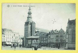 * Sint Truiden - Saint Trond (Limburg) * (SBP, Nr 5) Marché Aux Légumes, Kiosk, Animée, Patisserie, Café, TOP, Unique - Sint-Truiden