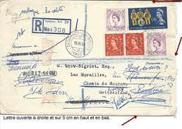 VALAIS, Rare Usage Cachet Linéaire MURAZ (SIERRE) 1968, Lettre De Grande-Bretagne, Multiples Réexpéditions WALLIS. - Poststempel