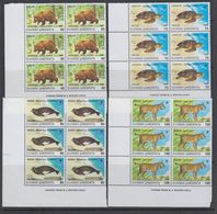 Greece 1990 Endangered Animals 4v Bl Of 6 ** Mnh (41602) - Griekenland