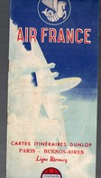 (AVIATION)  Livret Couleur AIR FRANCE Avec Cartes Des Itinéraires 1954 (PPP10055) - Cartes