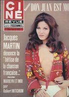 Ciné Revue Télé Programmes N°39 Jacques Martin - Robert Mitchum - Glenn Ford - Poster De Josiane Dupuy Nue 1973 - Fernsehen