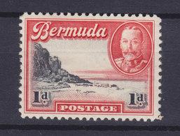 Bermuda 1936 Mi. 90    1p. South Shore Der Hauptinsel & King George VI., MH* - Bermuda