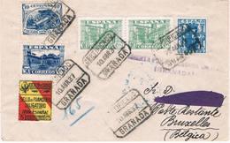 España. Carta Certificada Con Sello No Emitido Del Granada - 1931-50 Lettres