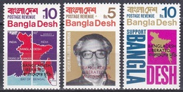 Bangladesch Bangladesh 1971 Geschichte History Unabhängigkeit Independence Landkarten Ketten Flaggen Flags, Mi. 9-1 ** - Bangladesch