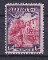 Bermuda 1936 Mi. 95    6p. Altes Posthaus Um 1850, MH* - Bermuda