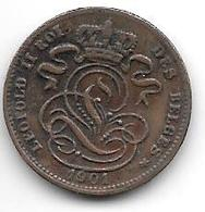 Belguim 1 Centime 1901 9 Over 8  French  Vf+ - 1865-1909: Leopold II