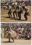 COTE D'IVOIRE - Danses Yacouba Et D'Issia - 2 Cartes  - Voir Scan - Côte-d'Ivoire