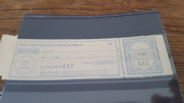 LOT 434114 TIMBRE DE FRANCE NEUF** LUXE PARIS POUR PARIS N°153 VALEUR 22 EUROS - Colis Postaux