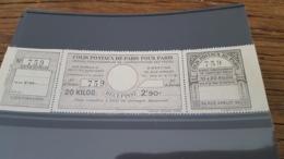LOT 434128 TIMBRE DE FRANCE NEUF** LUXE PARIS POUR PARIS N°98 VALEUR 50 EUROS - Colis Postaux