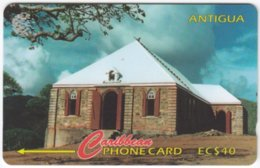 ANTIGUA A-118 Magnetic Cable & Wireless - Culture, Rural House - 18CATH - Used - Antigua And Barbuda