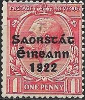 IRELAND 1922 Stamps Of Great Britain Overprinted - 1d. - Red MH - 1922-37 Stato Libero D'Irlanda