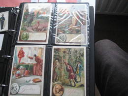 8 Cards BENSDORP, 14cm X 9cm  Advertising  C1890  CACAO COCOA  Chocolate, Famous WRITERS, Literature VG - Chocolate