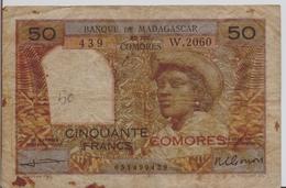 COMOROS P.  2b 50 F 1960 F - Comores