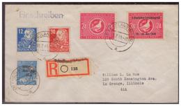 SBZ (007459) Einschreiben, MIF Mit MNR 189, 216, 222, 232, 233 Gelaufen Friedland In Die USA Am 1.7.1949 - Sowjetische Zone (SBZ)