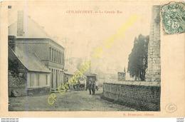 76.  GUILMECOURT .  La Grande Rue .  CPA Animée . - France