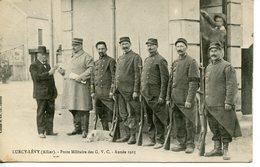 230. CPA 03 LURCY-LEVY. POSTE MILITAIRE DES G.V.C. ANNEE 1915 - Francia