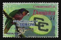 DOMINICA 2003 BIRDS PARROT CARICOM 30TH ANNIVERSARY SET MNH - Dominica (1978-...)